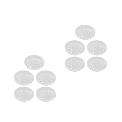 Baoblaze Platillo de Planta Transparente de 10 Piezas, Bandejas de Goteo, Platos para Interiores, Sin BPA de 9,8 Pulgadas