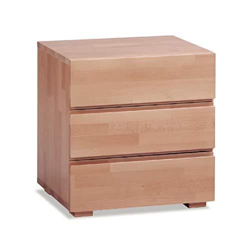 Hasena Woodline Nachttisch Treva Buche Natur 3 Schubladen