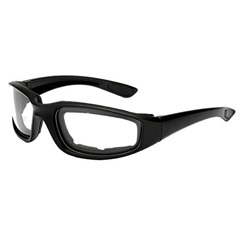 QUICATCH Anti-Glare Motorcycle Cycling Glasses Polarized Night Driving Lens Glasses Sunglasses for Cycling Hiking Outdoor (Clear)