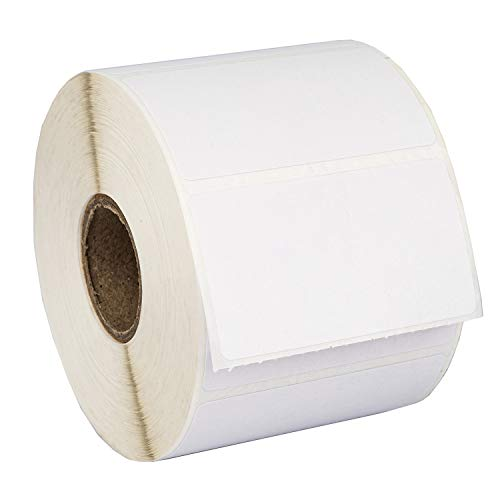 """HOUSELABELS 2.25"""" x 1.25"""" Address Labels on 1"""" Core Compatible with Zebra and Rollo Printers, 6 Rolls / 1,000 Labels per Roll"""