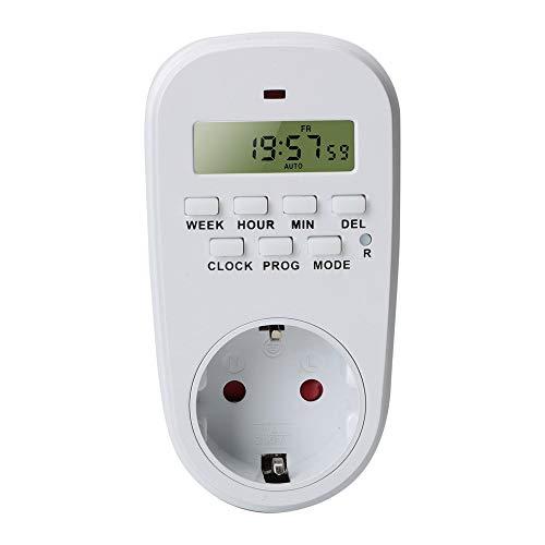CuiGuoPing - Reloj programable con temporizador digital para encendido/apagado, enchufe inteligente