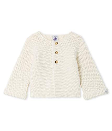 Petit Bateau Cardigan_4996404 Chaqueta Punto, Blanco (Marshmallow 04), 86 (Talla del Fabricante: 18M/81centimeters) para Bebés