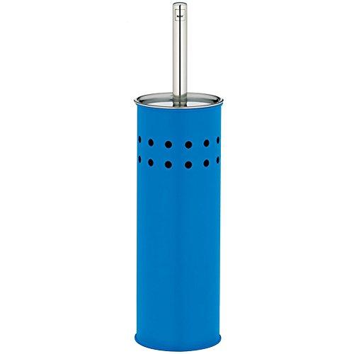 kela WC-Garnitur Ozean aus Edelstahl in blau, 9.5 x 9.5 x 37.5 cm