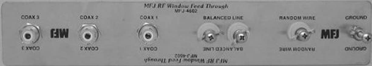 MFJ-4602 Window Antenna Feedthrough Panel with SO-239, Balanced Line, and Wire Antenna Connectors