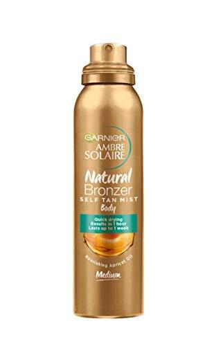 Garnier Ambre Solaire Spray Natural Bronzer, Spray Autoabbronzante, Texture Leggera, Dona un Colorito Naturale che Dura fino a una Settimana, 150 ml, Confezione da 1