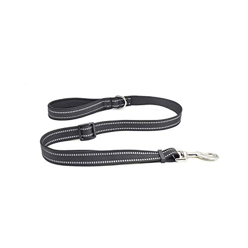 Almighty-shop Dogs with Reflective Breathable pet Chest Straps leashes Dog leashes Leash pet-Black-mesh Handle Strap-S