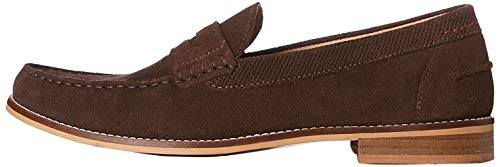 Marca Amazon - find. Mocasines Clásicos Hombre, Marrón (Brown), 41 EU