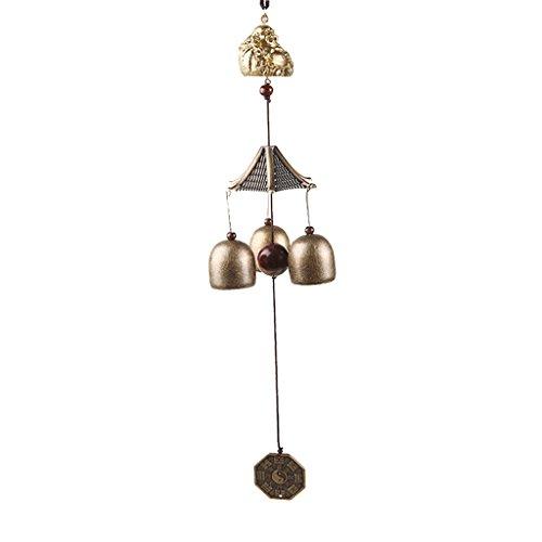 Generic Chinesisch Windspiel mit Metall-Glocke Garten Feng Shui Garten Haus Deko - Buddha