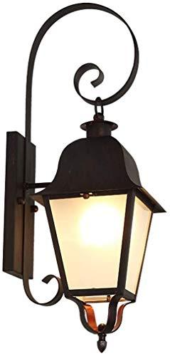 LYLSXY Lámparas de Pared, Lámparas Bellamente Decoradas Lámpara de Pared Al Aire Libre Impermeabilizante Patio Lámpara, Puerta de Entrada de Pared Retro Americana Puerta de Balcón Al Aire Libre Lámpa