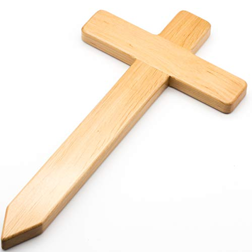 Petite croix en bois d'Europe élégante pour tombe - Pierre tombale - Pièce de rechange pour cimetière - Décoration funéraire - Pour chien, chat et animal