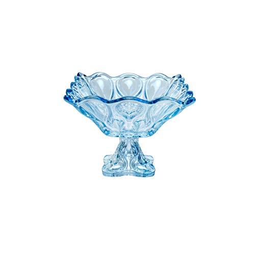 Fruteira de Cristal de Chumbo com Pé, Rojemac, 26044, Azul