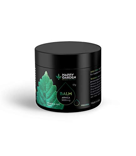Happy Garden Cannabis Sativa Hemp MUSCLE & JOINT CREAM for pain relief (Balm 1000MG)