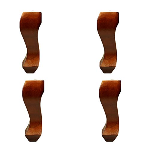 Möbelfüße aus Holz,Massivholz Möbelbeine,Tischbeine Möbelzubehör,Sofabeine,Schrankbeine,Einfach Zu Installieren,für Sofa Bett Schrank,Hohe 15cm,4er Set