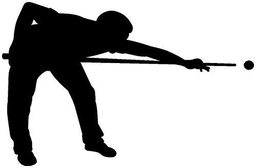 Samunshi® Wandtattoo Billardspieler Wandaufkleber Billard in 10 Größen und 19 Farben (40x26cm schwarz)