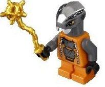LEGO Ninjago - Minifigur Chokun mit Morgenstern in gold