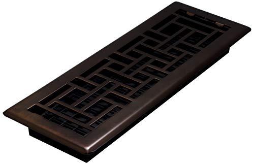 Decor Grates AJH414-RB Oriental Floor Register, 4x14 Inch, Rubbed Bronze