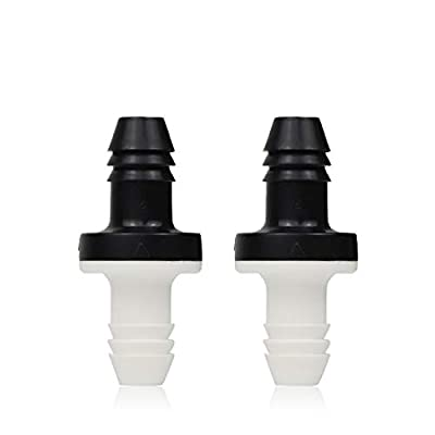 """BBT Check Valve, 2Pcs 3/8"""" 10mm Inline ABS One Way Water Non Return Check Valve for Fuel Gas Liquid Air from BBTUS"""