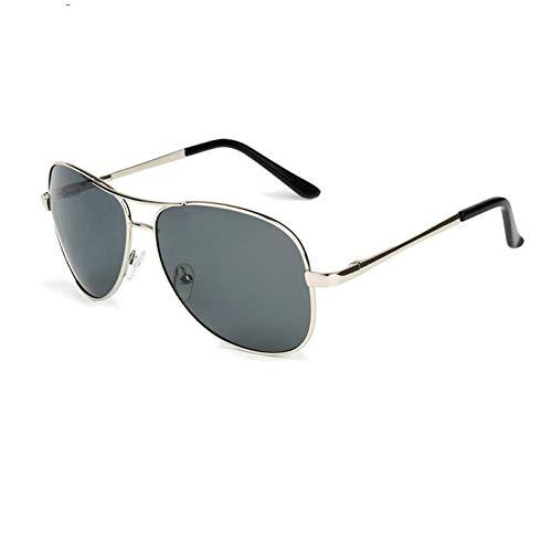 YXDEW Gafas de Sol polarizadas de los Hombres Piloto Espejo Gafas de Sol polarizadas de Las Mujeres UV100% Vidrio de Sun del Hombre,Gafas (Color : Silver Gray)