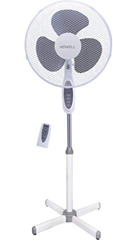 HOWELL Ventilatore a piantana Pala 40 con Telecomando, Bianco, Ho.VEP429R
