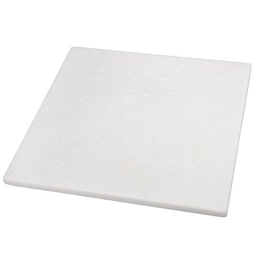 Creative Home – Tabla de queso de piedra de mármol de 12″ x 12″, Blanco roto, 12″ L x 12″ W x 3/4″ H, 1