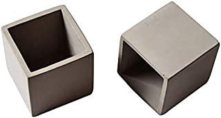 Nicole Silicone Mold for Concrete Flower Pot Making Tools Cube Cement Planter Mould Handmade Ashtray Candle Holder Mould