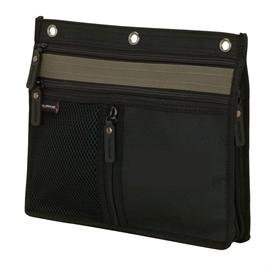 3 Ring Binder Pencil & Accessory Pouch. Expandable 10' X 8 1/2' X 1'