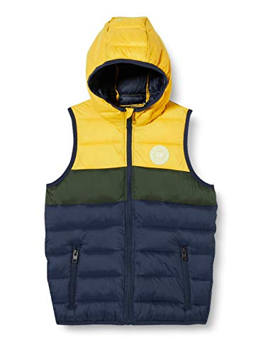 Jack & Jones JJEMAGIC Body Warmer Hood Noos JR Chaleco de plumas, Yolk Yellow, 176 cm para Niños
