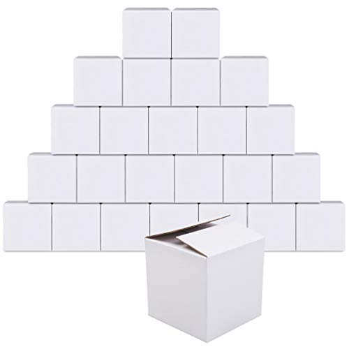 GIOOU Shipping Boxes 6x6x6 inches Cardboard Box White 25 Pcs