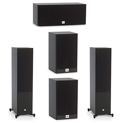 Affordable JBL 5.0 System with 2 JBL Stage A190 Floorstanding Speakers, 1 JBL Stage A125C Center Spe...