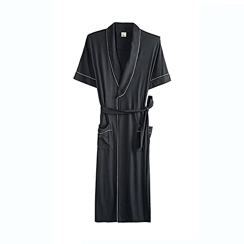 JXSM Vestido de noche, kimono largo y delgado para hombre, talla grande, pijama de verano (talla XXXL)