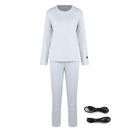 Abbigliamento riscaldante elettrico USB Biancheria intima riscaldata per donna Uomo Stomaco caldo per pantaloni invernali Strato di base termico