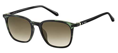 Fossil FOS 3091/S Gafas, Green Hrn, 53 para Hombre