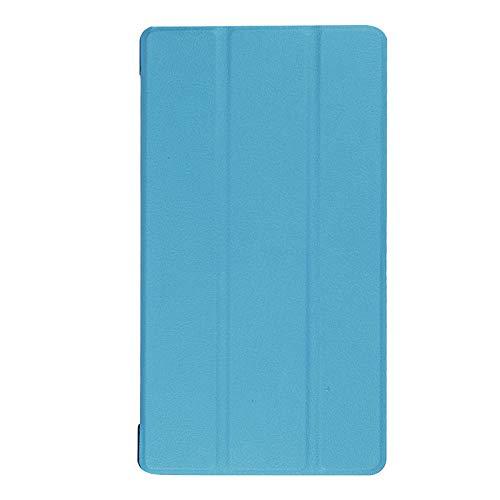Adecuado para Lenovo Tab 7 Funda para Tablet PC Essential TB-7304F Soporte de Plegado Triple Funda de Cuero de 7 Pulgadas-Cielo Azul_Lenovo / Lenovo