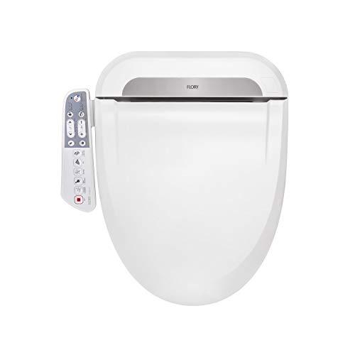 Flory FDB600-serie, intelligente bidet toiletbril, wc-douche, zijwand, besturingssysteem, energiebesparende technologie, milieuvriendelijk, water en zitting, Europees normaal, 490 x 466 x 143 mm
