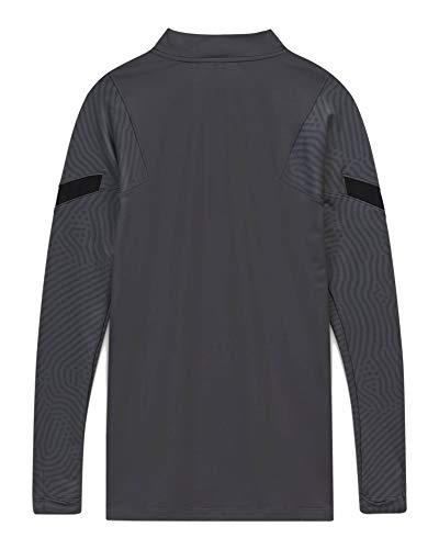NIKE Inter MNK Dry Strk Dril Top Cl Long Sleeved t-Shirt, Hombre, Dark Grey/Black/Tour Yellow no sponsor-3rd, XS