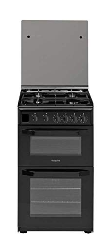 Hotpoint Ltd HD5G00CCBK CLOE 500mm Double Gas Oven FSD My Menu Hob Black