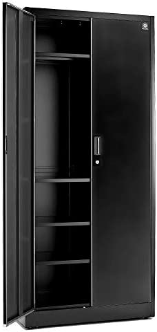 Fedmax Storage Cabinet with Doors and Shelves 71 Tall w Locks Adjustable Shelving Metal Utility product image