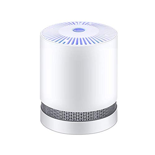 SZHWLKJ Compact Desktop di casa di Filtro dell'Aria con Luce Notturna, ozono, allergie, peli di Animali Domestici, Cucina, con Il Fumo, Polvere, Adatto a Soggiorno, Camera o in Ufficio