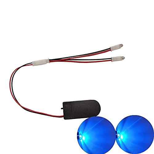 malyituk Always Bright LED luz hecha a mano DIY luces LED caseras, botón batería F5 interruptor LED con caja de batería 5V voltaje, para cosplay casco DIY tiras de luz superhéroe (azul)