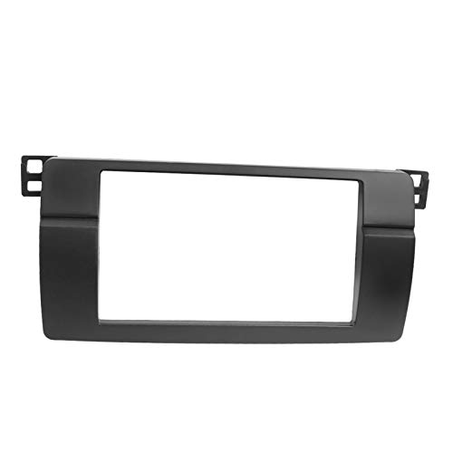 Weiyang Doble Din Coche Radio Fascia One Din DVD GPS Panel Estéreo Play Dash Moder Trim Kit Surround Marco Bisel Fit Para BMW 3 Series E46 1998-2005 (Color Name : Double Din)