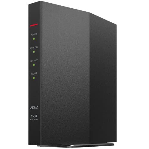 バッファロー WiFi ルーター 無線LAN 最新規格 Wi-Fi6 11ax / 11ac AX1500 1201+300Mbps 日本メーカー 【 i...