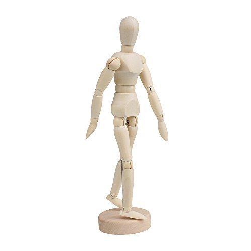 Manichino per Disegno,Uomo Modello di Legno 8 Pollici Manikin Articulated Mannequin di Arte per Decorazione Artisti Corpo Della