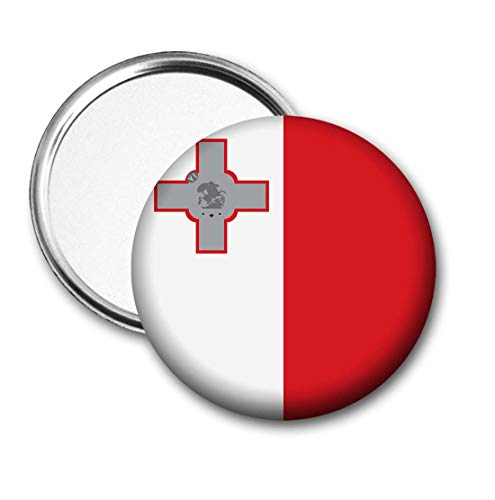 Malta Vlag Pocket Spiegel voor Handtas - Handtas - Cadeau - Verjaardag - Kerstmis - Stocking Filler - Secret Santa