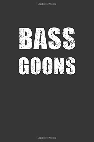 Bass Goons Blood Pressure Monitor Log: Lined Journal, 120 Pages, 6 x 9, BP Log Matte Finish