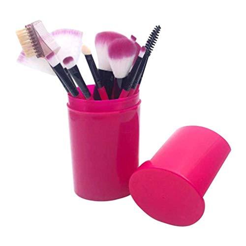 NXYJD Lidschattenbürste Set 12 stücke Weiche Borsten Schönheit Werkzeuge Augen Gesichtsmake-up Blusher Pinsel Zylinder Kosmetische Bürste (Color : 01)
