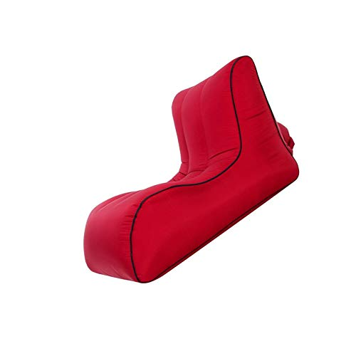 BANGSUN Aufblasbarer Sessel, klein, leicht, wasserdicht, faltbar, mittelgroß, Rot
