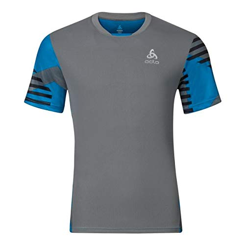 ODLO T-Shirt S/S Morzine pour Homme XXL Odlo Steel Grey Allover Print Ss17