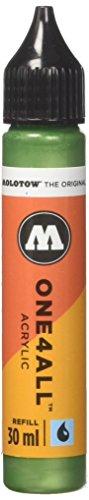 Molotow mo693226Refill one4all, recarga para marcador permanente 30ml 1pieza Metallic color verde claro