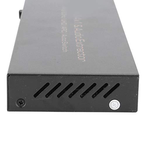 Eulbevoli Divisor de Audio, Separador de Audio con Efecto de Cine Material ABS Hdmi y Fibra óptica(Transl)