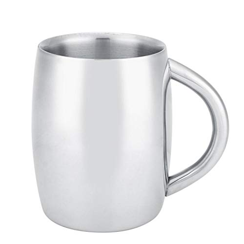 Taza de viaje de vidrio para café, juego duradero de 2 con tapa, taza de café de doble pared, taza de doble pared, para(350ML, Light body)